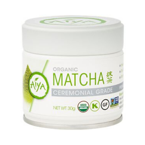 aiya organic matcha green tea powder cannister