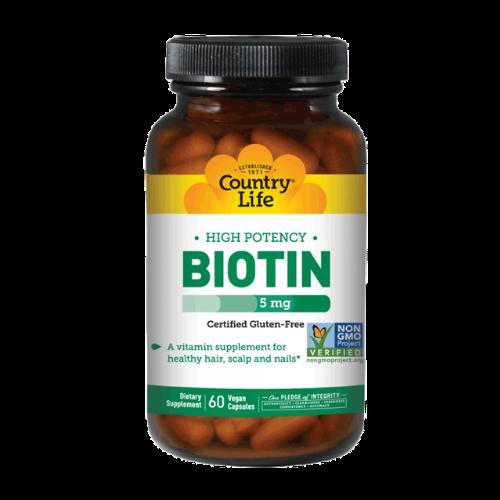 country life vegan biotin bottle