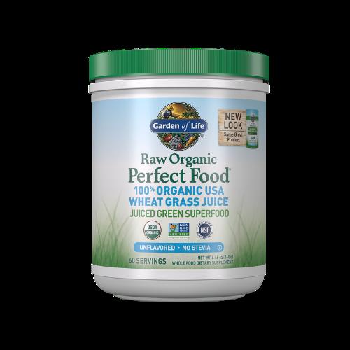 garden of life raw organic wheat grass powder cannister