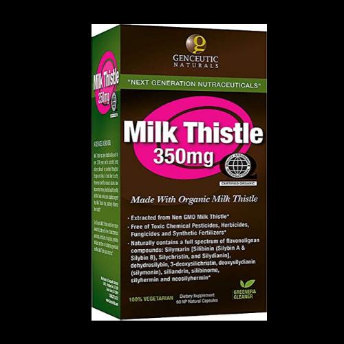 genceutic naturals organic milk thistle box