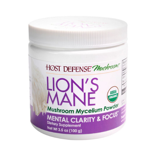 host defense organic lions mane powder cannister