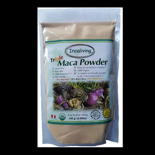 incaliving triple maca powder pouch