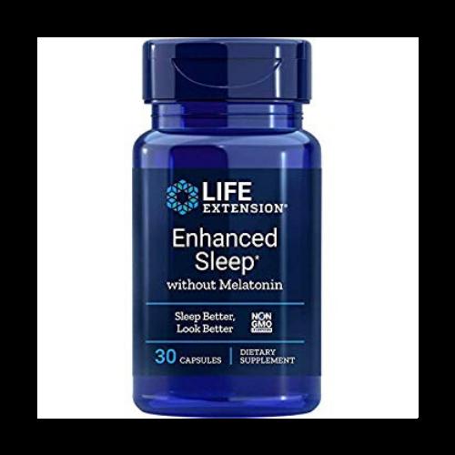 life extension enhanced sleep with melatonin bottle