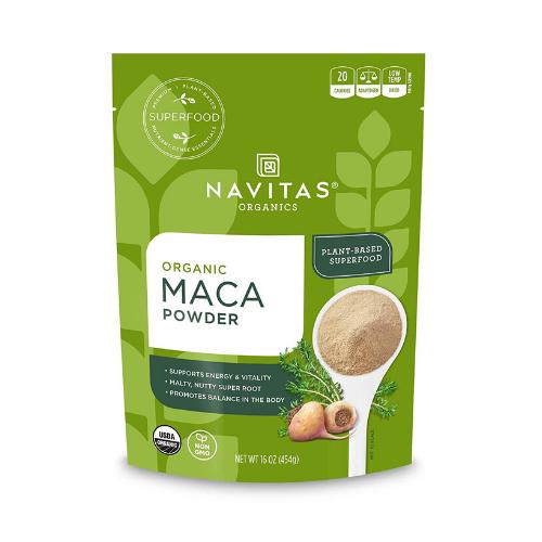 navitas organic raw maca powder pouch