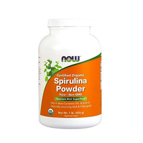 now foods organic spirulina powder cannister