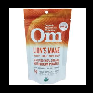 om organic lions mane powder pouch