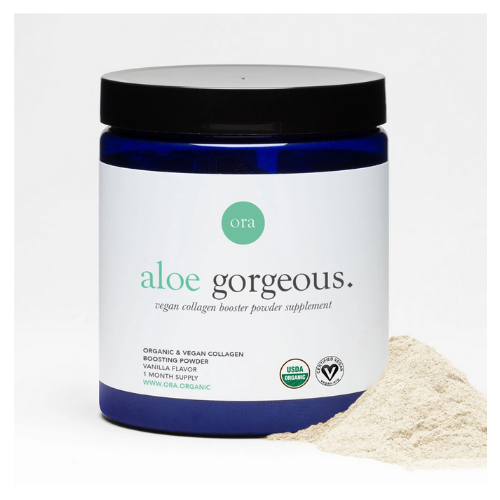 ora organic aloe gorgeous vegan collagen booster cannister