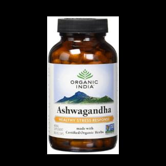 organic india ashwagandha bottle