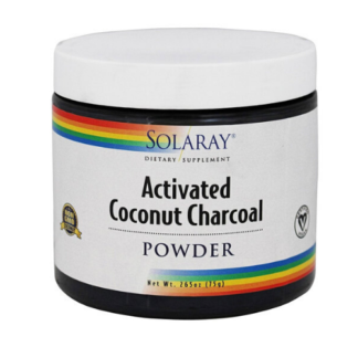 solaray activated coconut charcoal powder cannister