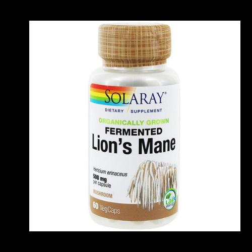 solaray organic lions mane capsule bottle