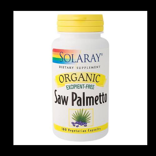 solaray organic saw palmetto capsules bottle