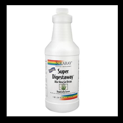 solaray super digestaway aloe vera drink bottle