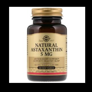 solgar natural astaxanthin 5mg bottle