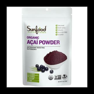 sunfood organic acai powder pouch